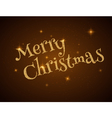 Christmas Typography on dark Xmas background with vector image vector image