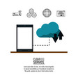 cloud computing service vector image vector image