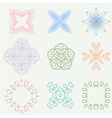 Color line art ornament design vector image vector image