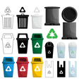 color recycle bin vector image vector image