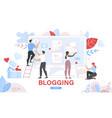 commercial blog posting internet blogging service vector image vector image