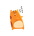 cute cartoon hamster character singing song funny vector image vector image
