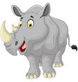 cute rhino cartoon smiling vector image vector image