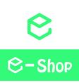 E letter logo e shop vector image vector image