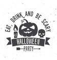 Eat drink and be scary vector image