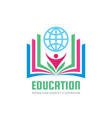 education - logo template concept vector image vector image