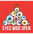Eyes wide open pyramid vector image vector image