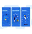 flat design oneboarding concepts - isometric 3 vector image vector image
