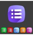 Flat icon menu vector image