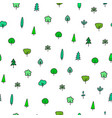 forest garden tree nature simple seamless pattern vector image vector image
