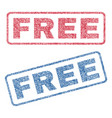 free textile stamps vector image vector image