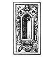 german renaissance architectural frame had a vector image vector image