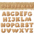 Gingerbread alphabet isolated on white background