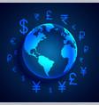 global digital money transfer concept design vector image