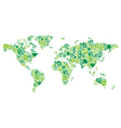 green concept world map vector image vector image