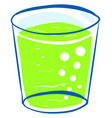 green juice in glass on white background vector image vector image