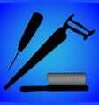 hacksaw saw silhouette vector image