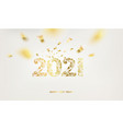 happy new year card over gray background with vector image vector image