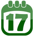 icon of march 17 in a calendar vector image vector image