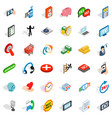 internet icons set isometric style vector image vector image