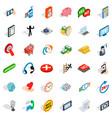 Internet icons set isometric style
