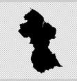 map guyana isolated black on vector image