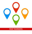 map markers icon vector image