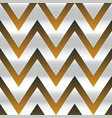 metal zigzag seamless pattern vector image vector image