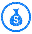 money sack rounded grainy icon vector image vector image