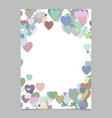 multicolored random heart page background design vector image vector image