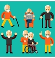 Older people Elderly activity elderly care vector image vector image