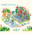 online learning concept online education vector image vector image