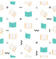 open books seamless pattern vector image vector image