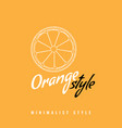 orange slice fruit icon or symbol with line art or vector image vector image