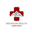peak medicine logo designs vector image