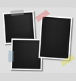 Photo frame realistic paper instant photograph