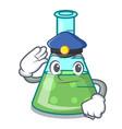 police science beaker character cartoon vector image vector image