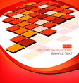 red abstract background with mosaic vector image