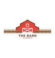 red barn logo design template vector image vector image