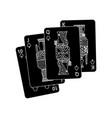 royal flush playing club cards poker casino vector image vector image