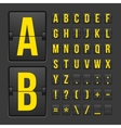 Scoreboard letters and symbols alphabet panel vector image vector image