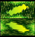 set of frames from grass textures for vector image