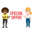 shooting females special offer pixel vector image