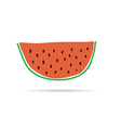 slice of watermelon cartoon vector image