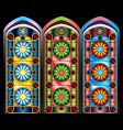 stained glass windows vector image