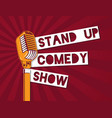 Stand up comedy microphone on