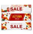 stylish design of autumn sale coupons vector image vector image