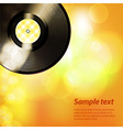 Summer glowing background with vinyl and text vector image vector image