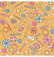 Sweets Seamless Pattern Hand Drawn vector image
