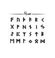 viking runes elder futhark alphabet set icons vector image vector image